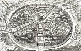 Civitas Veri, or City of Truth by Bartolomeo Del Bene. Source: http://www.santa-coloma.net/voynich_drebbel/utopias/utopias.html