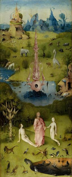 The Garden of Earthly Delights, inner left wing (Paradise). Date: between 1480 and 1505. Source: Wikipedia