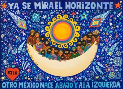"""""""We can see the horizon. Mexico is born down and at the left"""""""